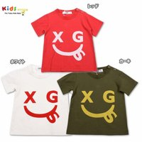 フロント部分に書かれたX-girlStagesのニコちゃんマークが目を引くTシャツ!カラーバリエーシ...