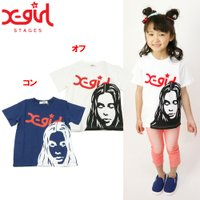 X-girl stages エックスガール 半袖Tシャツ ■モデル掲載商品