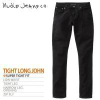 ヌーディージーンズ Nudie Jeans ジーンズ デニム パンツ メンズ オーガニックコットン ストレッチ TIGHT LONG JOHN タイトロングジョン BLACK BLACK