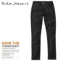 ヌーディージーンズ Nudie Jeans ジーンズ デニム パンツ メンズ オーガニックコットン ストレッチ スキニー GRIM TIM グリムティム BLACK RING