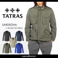 タトラス TATRAS サファリジャケット メンズ M65 パッカブル ミリタリ MTA15S4345 SARDEGNA|kiiroya-import