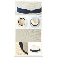 麦わら帽子 レディース 中折れハット リボン 雑材 おしゃれ かわいい 紫外線対策 春 夏 メール便不可