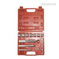 ・ベアリングやブッシュ、シールの挿入などに便利な工具セット ・専用収納ケース付 ・14個のアダプター...