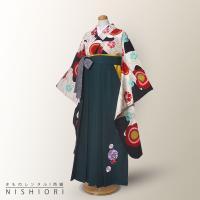 ちはやふる × JAPAN STYLE ジュニア 二尺袖 着物 袴 CJ3 白 黒 緑 刺繍 レンタル 貸衣装
