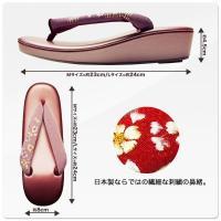 日本製 R芯 草履 単品 刺繍 選べる12色 2サイズ M L やさしい履き心地