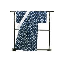 浴衣 レディース レトロ かわいい アンティーク 古典柄 綿 雪花絞り 有松絞り 白地 夏物 伝統工芸品 花 花柄 68cm w438