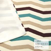 着物 洗える 縞 ボーダー 幾何学 水色 クリーム オフホワイト 茶色 袷 小紋 単品 仕立上がり プレタ