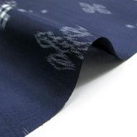 雨コート 着物用 レインコート 和装 反物 セミオーダー 仕立て付 花紺地琉球絣模様