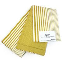 浴衣と帯2点セット レディース フリーサイズ 紺地牡丹柄渋黄色帯 リバーシブル 浴衣帯 送料無料 女性
