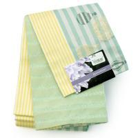 浴衣 帯 2点セット レディース Mサイズ ピンク地サルスベリ柄浴衣+グリーンイエロー色帯 送料無料 女性