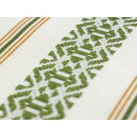 正絹 単帯 きゅっと締めやすい博多織の半幅帯 白地華皿独鈷柄 四寸三分 浴衣帯 日本製 送料無料 tkフク