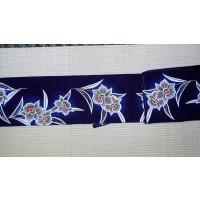アウトレット本染め手縫い出来上り浴衣 女性用 濃紺に花柄