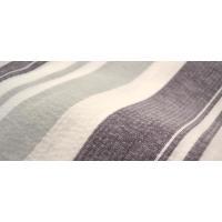しじら織り浴衣 単品 白地の紫グレー縞柄【メール便不可】【あすつく】