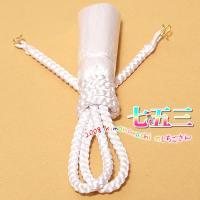 羽織紐 七五三 男児・男の子用 「白」羽織カン付き 5歳・5才 丸組