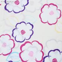 女性 浴衣単品「ラズベリー、紫色 椿」綿 綿浴衣 お仕立て上がり浴衣 女性浴衣 プレタ浴衣 7FS-H2-43