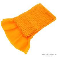 総絞り 帯揚げ「黄色」