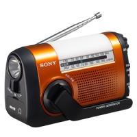 ICF-B09(D)オレンジ [SONY ソニー] 手回し充電ラジオ ICFB09D