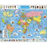 ラーセン社 パズル世界地図です。 ラーセン社はノルウェーのパズルメーカーです。 厚みのある丈夫な紙質...