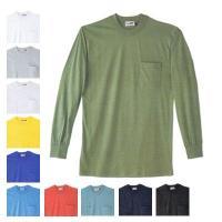 95004 長袖Tシャツ M・アーミーグリーン40 自重堂 自重堂、Mr.JIC、Tシャツ、長袖Tシ...