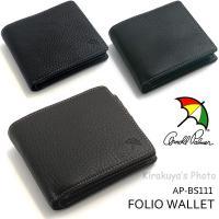 幅広い世代に人気のブランド「アーノルドパーマー」から二つ折り財布の登場!! 表側の素材は、しなやか&...