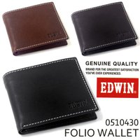 幅広い世代に人気のブランド「EDWIN(エドウイン)」から 牛革二つ折り財布の登場!! 札入れ2か所...
