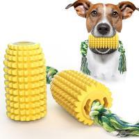 犬噛むのおもちゃ 噛むおもちゃ ペット噛むおもちゃ 犬のおもちゃのトウモロコシの臼歯のスティック咬傷に強い歯ブラシの犬のおもちゃ