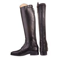 HKM社製の新品革長靴です。 高品質な革でできており、バックファスナー式です。 後ろがジャバラになっ...