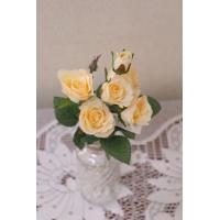 【造花】【ミニローズピック】【4色よりお選びください】