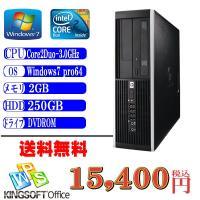 中古デスクトップパソコン 送料無料 HP 6000Pro Core2Duo-3.0GHz メモリ2G...