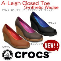 クロックス Crocs A-Leigh Closed Toe Synthetic Wedge アレイ...