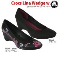 crocs lina wedge w クロックスリナウェッジウィメン  ・6cmヒール (サイズ) ...