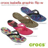 crocs isabella graphic flip w クロックスイザベラグラフィックフリップウ...