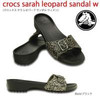 crocs sarah leopard sandal w クロックス サラ レオパード サンダル ウ...