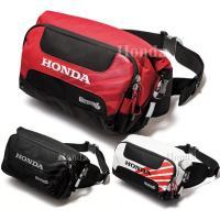 Honda WP ヒップバック  ●防水メイン気室。 ●フロントポケット(非防水)。 ●キーフック。...