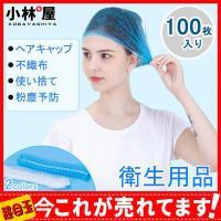 ヘアキャップ 不織布使い捨てヘアキャップ 不織布キャップ 100枚入り ネットキャップ ケアキャップ 防護 不織布 飛沫 粉塵予防 衛生用品