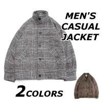 ジャケット メンズ おしゃれ ブランド 無地 柄 黒 チェック スタンドカラー コート アウター 大きいサイズ 夏 18smj03w