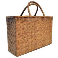 山葡萄かごバッグ  高級  網代編 沢皮 内布付き  wild grapevine bag 91430