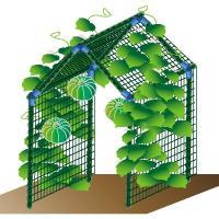 商品情報 直径20mmの支柱でしっかり支えられるので、小玉スイカやカボチャなどの空中栽培が可能です!...