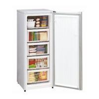 前開き型5段式のスリムタイプ冷凍庫。  4段は引出し式クリアケース搭載で使いやすい