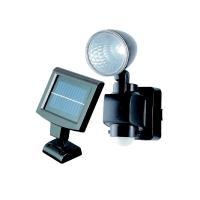ソーラー充電タイプのLEDセンサーライト  防雨構造  設置に便利なクランプ付