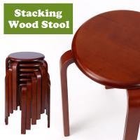 ■商品名:スタッキングチェア 木製丸椅子 ■商品サイズ:直径40.5×高44.2cm ■座面サイズ:...