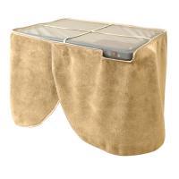 簡単装着で暖かさを逃さない卓下ヒーター。テーブルやデスクの裏側にピタッと装着するだけ。テーブルやデス...