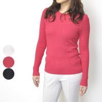 carole grey キャロルグレイ冬物 冬服 リブ使いセーター シンプル カジュアル 高級 大人 ミセス ファッション 40代 50代 贈り物 プレゼント 母の日 大きいサイズ