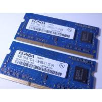 中古ノートPC用メモリ4GB2枚セット メーカー : ELPIDA(エルピーダ) 容量 : 4GB ...