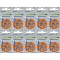 PowerOne パワーワン 補聴器用空気電池 PR48(13) 10パックセット 送料無料