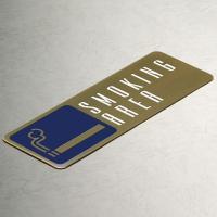 喫煙所プレート(真鍮製)ピクトサインプレート(b-c-sp-011)