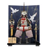 こちらは、有名甲冑師シリーズ・鈴甲子雄山作の、「徳川家康公之鎧10号(一ノ谷の合戦)」の高級鎧飾りで...