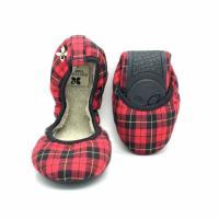 バタフライツイスト BUTTERFLY TWISTS 携帯用シューズ 外履きOK! 室内 靴 シューズ ソフィアファー(SOPHIA-FUR) BT1001FU レッド タータン 赤  S M L 22.5-25c
