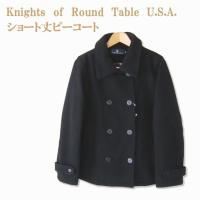 【マフラープレゼント中】≪スクールピーコート 女の子≫ ショート丈Pコート Knights of Round Table U.S.A. スクール/学生/制服/中学生/高校生/通学