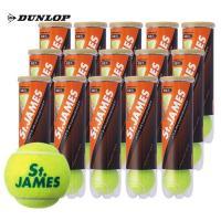 DUNLOP ダンロップ 硬式テニスボール セントジェームス St.JAMES(15缶/60球)「新パッケージ」